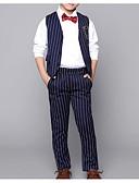 זול חליפות-בורגנדי / כחול רויאל כותנה חליפה לנושא הטבעת  - 1set כולל Pants / עניבה / קשת