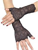 cheap Historical & Vintage Costumes-Women's Basic Fingerless Gloves - Solid Colored / Floral