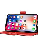 זול מגנים לאייפון-מגן עבור Apple iPhone XS / iPhone XR / iPhone X מחזיק כרטיסים / עמיד בזעזועים כיסוי מלא אחיד קשיח עור PU