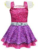 זול שמלות לבנות-שמלה מעל הברך שרוולים קצרים טלאים פעיל / סגנון רחוב בנות ילדים / פעוטות