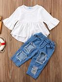 povoljno Vanjska odjeća za bebe-Dijete Djevojčice Aktivan / Osnovni Jednobojni Dugih rukava Kratka Komplet odjeće Obala