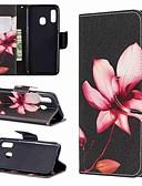 Недорогие Чехлы для телефонов-Кейс для Назначение SSamsung Galaxy A6 (2018) / A6+ (2018) / Galaxy A7(2018) Кошелек / со стендом / Флип Чехол Цветы Твердый Кожа PU