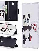 Недорогие Чехлы для телефонов-Кейс для Назначение Nokia Nokia 7.1 / Nokia 5 / Nokia 5.1 Кошелек / Бумажник для карт / Защита от удара Чехол Мультипликация / Панда Твердый Кожа PU