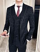 זול טוקסידו-טוקסידו גזרה רגילה סגור Single Breasted One-button פוליאסטר / תערובת כותנה / פוליסטר פרחוני  בוטני
