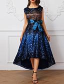 economico Abbigliamento donna-Per donna Elegante Swing Vestito A pois Asimmetrico