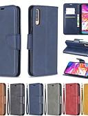 זול מגנים לטלפון-מגן עבור Samsung Galaxy A6 (2018) / A6+ (2018) / Galaxy A7(2018) ארנק / מחזיק כרטיסים / עמיד בזעזועים כיסוי מלא אחיד קשיח עור PU