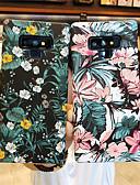 זול מגנים לטלפון-מגן עבור Samsung Galaxy Note 9 / Note 8 מזוגג / תבנית כיסוי אחורי פרח קשיח PC