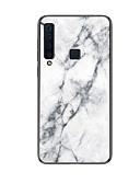 Недорогие Чехлы для телефонов-Кейс для Назначение SSamsung Galaxy Galaxy A7(2018) / A9 Star / A8 2018 С узором Кейс на заднюю панель Однотонный Твердый Закаленное стекло