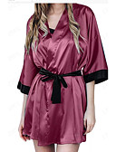 זול חליפות-בגדי ריקוד נשים מידות גדולות חצאיות - אחיד תחרה שחור יין XXL XXXL XXXXL / סופר סקסי