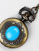 baratos Relógios Homem-Homens Relógio de Bolso Quartzo Marrom Criativo Novo Design Relógio Casual Analógico Casual Colorido - Vermelho Verde Azul