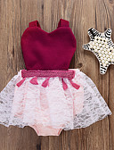 זול סטים של ביגוד לתינוקות-שמלה ללא שרוולים אחיד בנות תִינוֹק
