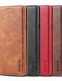 זול מגנים לטלפון-מגן עבור Samsung Galaxy Note 9 / Note 5 מחזיק כרטיסים / עמיד בזעזועים / עם מעמד כיסוי מלא אחיד קשיח עור PU