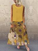 זול שמלות מקסי-מקסי דפוס, גיאומטרי - שמלה גזרת A וינטאג' בוהו בגדי ריקוד נשים