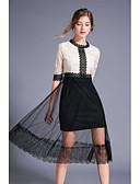 abordables Encaje Romántico-Mujer Elegante Corte Swing Vestido Sobre la rodilla