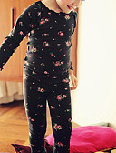זול הלבשה תחתונה וגרביים לבנות-לבוש שינה גיאומטרי בנות ילדים