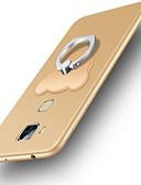 זול מגנים לאייפון-מגן עבור Huawei Huawei Mate 7 עמיד בזעזועים / מחזיק טבעת כיסוי אחורי אחיד רך ג'ל סיליקה