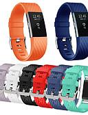 זול להקות Smartwatch-צפו בנד ל Fitbit Charge 2 פיטביט רצועת ספורט מתכת אל חלד / סיליקוןריצה רצועת יד לספורט