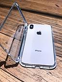 זול מגנים לאייפון-מארז iPhone XS מקס / iPhone x מגנטי / שקוף גוף מלא המקרים מוצק צבע קשה מתכת עבור iPhone 6 / iPhone 6 פלוס / iPhone 6s