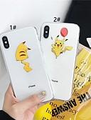 זול מגנים לאייפון-מארז iPhone xr / iPhone xs מקס דפוס / שקוף חזרה לכסות חיה / קריקטורה רכה tpu עבור 6 6 ועוד 6s 6splus 7 8 7plus 8 x x x x