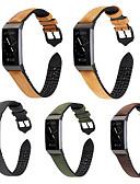 Недорогие Чехол для умных часов-Для зарядки fitbit 3 ремешки для часов силиконовая паста роскошные кожаные часы ремешок на запястье бизнес прочный