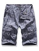 hesapli Erkek Pantolonları ve Şortları-Erkek Temel Şortlar Pantolon - Desen Siyah Gri Haki 34 36 38