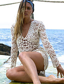 זול חליפות רטובות,חליפות צלילה וחולצות ראש-גארד-בגדי ריקוד נשים בגד ים מכסים ספנדקס בגדי ים הגנה מפני השמש UV ייבוש מהיר שרוול ארוך שחייה גלישה ספורט מים טלאים סתיו אביב קיץ