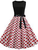 tanie W stylu vintage-Damskie Podstawowy Elegancja Pochwa Sukienka - Geometric Shape, Nadruk Do kolan
