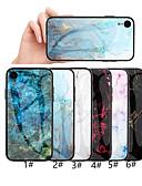 זול מגנים לאייפון-מארז iPhone XR / iPhone XS מקסימום דפוס גב הכריכה שיש קשה מזג זכוכית עבור iPhone 6 6 פלוס 6s 6s פלוס 7 8 7 פלוס 8 x xs