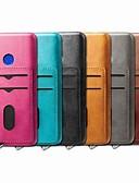 זול מגנים לטלפון-מגן עבור OnePlus אחת פלוס 7 / אחד פלוס 7 Pro מחזיק כרטיסים / עמיד בזעזועים / עם מעמד כיסוי אחורי אחיד קשיח עור PU