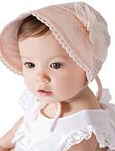 זול ילדים כובעים ומצחיות-מידה אחת לבן / ורוד מסמיק כובעים ומצחיות כותנה / תחרה תחרה / פפיון / פרח אחיד / פרחוני / סרוג וינטאג' / פעיל / בסיסי בנות פעוטות / תינוק