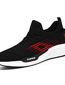 זול עור-בגדי ריקוד גברים לבש נעליים בד גמיש אביב קיץ ספורטיבי / יום יומי נעלי אתלטיקה ריצה נושם שחור ולבן / שחור אדום