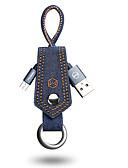 זול מטען כבלים ומתאמים-מיקרו USB כבל 0.2m (0.65Ft) קלוע / תשלום מהיר ניילון מתאם כבל USB עבור סמסונג / Huawei / LG