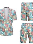 זול חליפות-דפוס 3D גזרה רגילה כותנה חליפה - סגור Single Breasted One-button