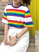 abordables Pijamas-Mujer Camiseta Corte Ancho Bloques Arco Iris