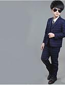 povoljno Kompletići za dječake-Djeca Dječaci Osnovni Jednobojni Dugih rukava Regularna Normalne dužine Pamuk Komplet odjeće Plava
