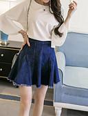 hesapli Bluz-Kadın's Tişört Solid Beyaz