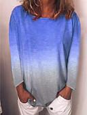 povoljno Ženske haljine-Majica s rukavima Žene Dnevni Nosite Color block Svjetloplav
