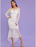 hesapli Kadın Elbiseleri-Kadın's Kılıf Elbise - Solid Asimetrik