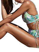 hesapli Bikiniler ve Mayolar-Kadın's Yonca Tankini Mayolar - Çiçekli S M L Yonca