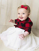זול שמלות לתינוקות-שמלה שרוול ארוך פסים בנות תִינוֹק