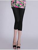 hesapli Taytlar-Kadın's Podstawowy Legging - Solid, Dantelli Orta Bel Siyah Doğal Pembe Açık Mavi Tek Boyut / İnce