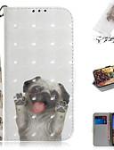 hesapli Cep Telefonu Kılıfları-Pouzdro Uyumluluk Google Google Pixel 3a XL / Google Piksel 3a Cüzdan / Kart Tutucu / Satandlı Tam Kaplama Kılıf Hayvan / 3D Karikatür PU Deri