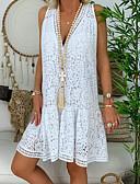 hesapli NYE Elbiseleri-Kadın's A Şekilli Elbise - Solid Diz-boyu