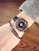 זול שעוני שמלה-שעוני שלד עור אנלוגי צלחת שחורה שחורה חגורה שחורה עם צלחת לבנה צלחת לבן לבן חגורה / מתכת אל חלד