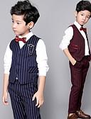 זול חליפות לנושאי הטבעת-כחול רויאל / אבטיח כותנה חליפה לנושא הטבעת  - 2 כולל וסט / Pants