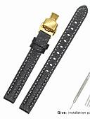 hesapli Deri Saat Bandı-Gerçek Deri / Deri / Buzağı Tüyü Watch Band kayış için Siyah Diğer / 17cm / 6.69 inç / 19cm / 7.48 İnç 1cm / 0.39 İnç