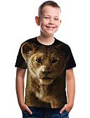 povoljno Majice za dječake-Djeca Dijete koje je tek prohodalo Dječaci Aktivan Osnovni Geometrijski oblici Print Print Kratkih rukava Majica s kratkim rukavima Braon