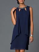 povoljno Ženske haljine-Žene Elegantno Shift Haljina Jednobojni Iznad koljena