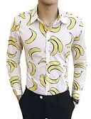 hesapli Gömlekler-Erkek Gömlek Meyve Temel Beyaz