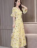 hesapli Kadın Elbiseleri-Kadın's Çan Elbise - Çiçekli Maksi